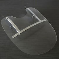 26''X23'' Detachable Windshield For Harley Heritage Softail Classic FatBoy Clear