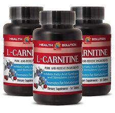 Amino Acid Complex L-CARNITINE 500mg Memory Enhancer 3 Bottles