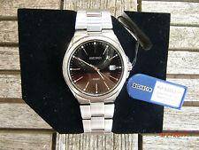 Seiko SGEE31P1 Quarzuhr elegante Dresswatch Saphirglas schwarzes Zifferblatt NEU