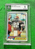 OZZIE NEWSOME BCCG 5 EX GRADED JERSEY #82 CLEVELAND BROWNS 1981 TOPPS #435