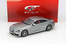 Mercedes-AMG S 63 Coupe silber 1:18 GT-SPIRIT