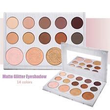 14 Colors Warm Makeup Eye Shadow Palette Matte Shimmer Eyeshadow Cosmetics Set