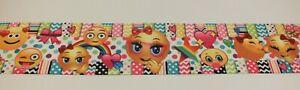 "Emoji Printed 3"" 75 mm Grosgrain Ribbon Hair Bow Accessories Craft Scrapbooking"