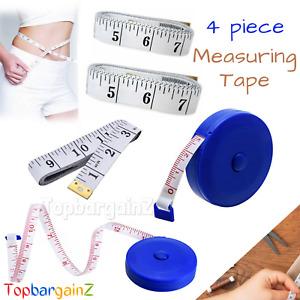 4 pcs Retractable Measuring Tape Cloth Tailor Seamstress Soft Ruler Body Measure
