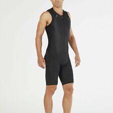 New 2Xu Men Compression Full Zip Tri Suit Medium Black Triathlon Suit