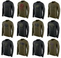 Mens NFL 2018 Salute to Service Long Sleeve T-Shirt ( Several Teams and Sizes)