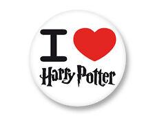 "Pin Button Badge Ø25mm 1"" ♥ I Love You j'aime Ti amo te amo Coeur Harry Potter"
