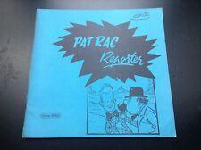 Pat Rac reporter Erik Edition Horus Futuropolis