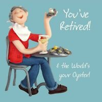 Retirement Card - Male - World's Your Oyster Funny One Lump Or Two Quality