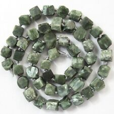 1 strand Raw Gemstone Seraphinite Loose Bead 15.5 inch M241