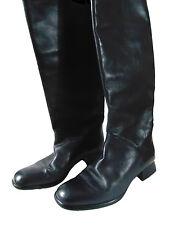 Women Shoes Vintage CARVELA Black Leather Knee High Boots Size 6