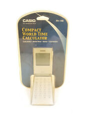 Brand New Vintage Casio Compact World Time Calculator Fh-150 Sealed