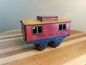 🌜 Marx 356 Eagle Eye Caboose, Joy Line, HTF 1920's Blue Frame, VG