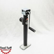 "5000 lb, 15"" Lift Range, Tubular Mount Side Wind Trailer Jack w/Foot Plate"
