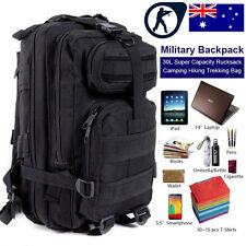 30L Military Tactical Backpack Molle Rucksacks Camping Hiking Trekking Bag AU