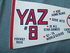 Carl Yastrzemski Boston Red Sox Full Stats Pennant 1983 Ex+ 12 X 30