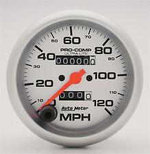 Auto Meter Ultra-Lite In-Dash Silver Mechanical Speedometer 3 3/8 in. 120 MPH