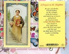 St. Saint Stephen - A Prayer to St Stephen -  Laminated Holy Card