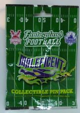 Disney Pin Collectible MALEFICENT FANTASY FOOTBALL  Mystery Pack Random Set of 5
