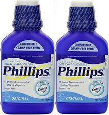 Phillips Milk of Magnesia Original 26 oz Constipation ( 2 pack ) BIG BOTTLES!