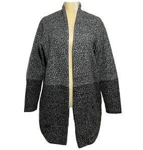 Next Cardigan Women's US 8 Colorblock Long Sleeve Gray Black Classic Stylish