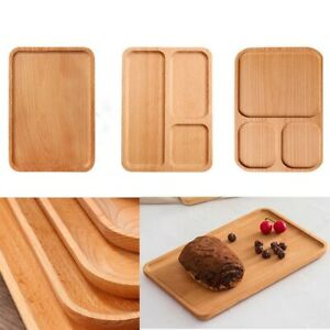 Bamboo Tea Fruit Holder Storage Pallet Plates Cup Saucer Trays Serving Tray