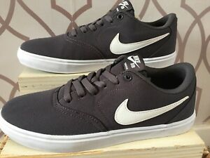 Mens Nike Sb Check Canvas Shoes Uk 6 Brand New Yy25