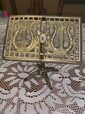 Doll House Room Solid Brass Music Stand Ornate Lyre Harp Design 5.5�