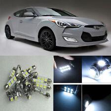 11×Xenon White LED Interior Light Package Kit for Hyundai Veloster 2012-2016