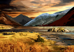 Wast Water Lake District Limited Art Print By Sarah Jane Holt