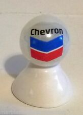 CHEVRON GASOLINE LOGO ON WHITE PEARL MARBLE