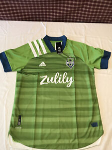 NWT's Adidas Seattle Sounders FC 2021 Home Authentic MLS Jersey Size M ~ $130