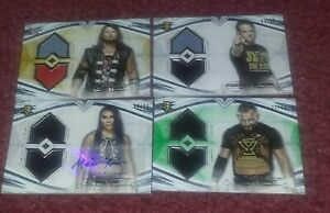 2020 TOPPS WWE UNDISPUTED Autograph Dual Relic Lot AJ STYLES MIA YIM STRONG FISH