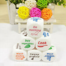 1x Dice Game Toy For Adult Love Couple Housework Duties Sex Fun Novelty Gift SE