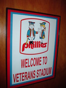 ** Philadelphia Phillies Baseball Stadium Throwback Game Room Bar Man Cave Sign