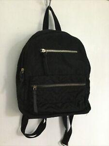 Womens Black Zip Detail Backpack Bag By Primark