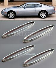 AU STOCK x4 CHROME Front & Rear Reflector Surrounds for Jaguar XK XK8 XKR 96-06