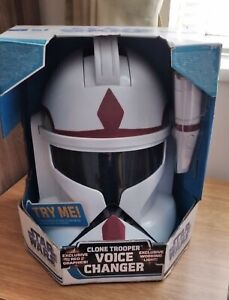 Star Wars Clone Trooper Commander Helmet - With Working Light and Sound ( RARE )