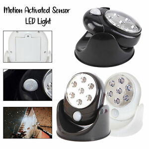 Battery Operated Motion Activated PIR Sensor Cordless Security Light 7 LED Light