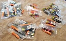 Lot of 32 Canon 220 221 INK CARTRIDGES NEW Black, Yellow, Magenta, Cyan