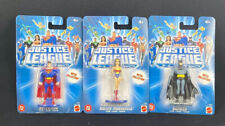 3 Justice League Unlimited Metal Collection Figures Superman Wonder Woman Batman