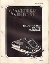1977 Arctic Cat Snowmobile Kitty Cat Parts Manual P/N 0185-087 (226)