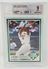 2001 Fleer Platinum #435 Cardinals Angels ALBERT PUJOLS Rookie Cards - 9 MINT