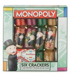 Hasbro MONOPOLY Set of 6 Christmas Crackers & Property Card Game Xmas Gift