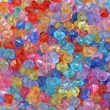PD: 1000 Mix Acryl Doppelkegel Perlen Bicone Rhomben Facettiert Beads 5x5mm