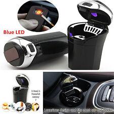 Blue LED Car SUV Ashtray Cigar Cigarette Lighter Ashtray Smokeless+USB Portable