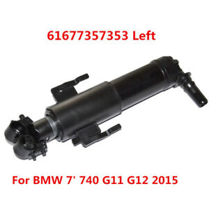 *Left Headlight Washer Telescopic Nozzle For BMW 7' 740 G11 G12 2015 61677357353