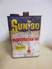 VINTAGE Suniso Refrigeration Oil USA 1 Gallon Tin Sun Oil Philadelphia Sunoco