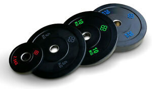 """Olympic Bumper Plates Set - 2"""" Inch Weight Plates for Weight Lifting KG"""