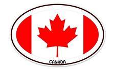 """Canada Flag Oval car window bumper sticker decal 5"""" x 3"""""""